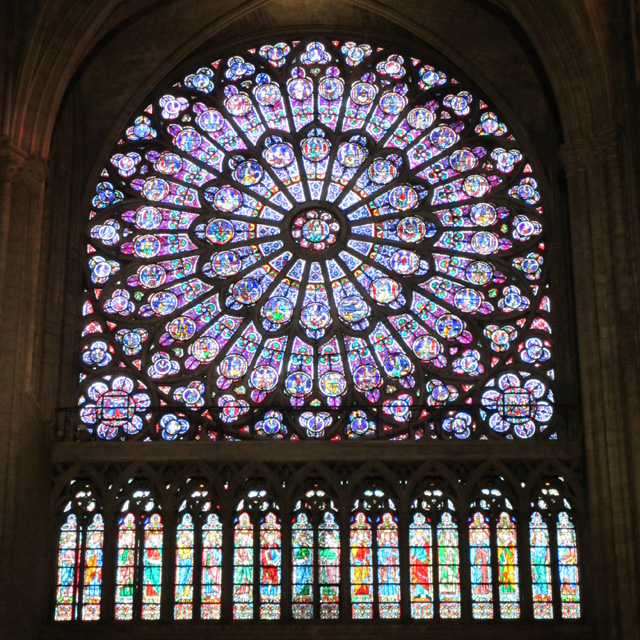 The South Rose Window of Notre-Dame