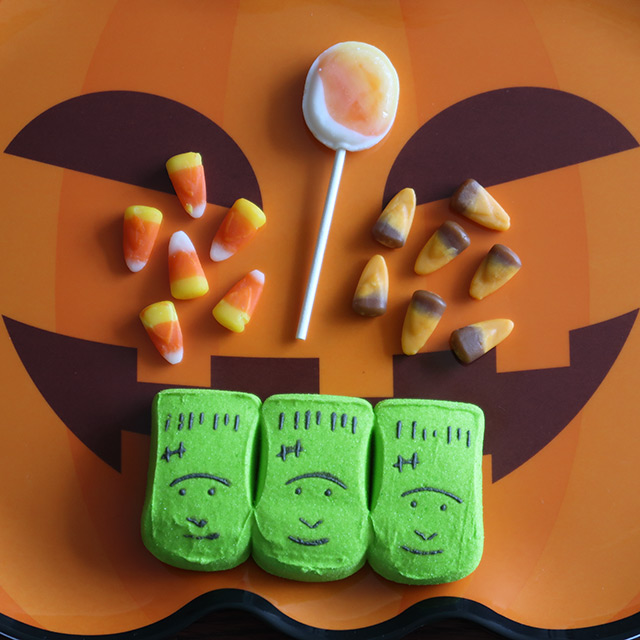 A selection of Halloween candy from the USA