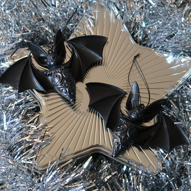Gothic Christmas baubles from Killstar