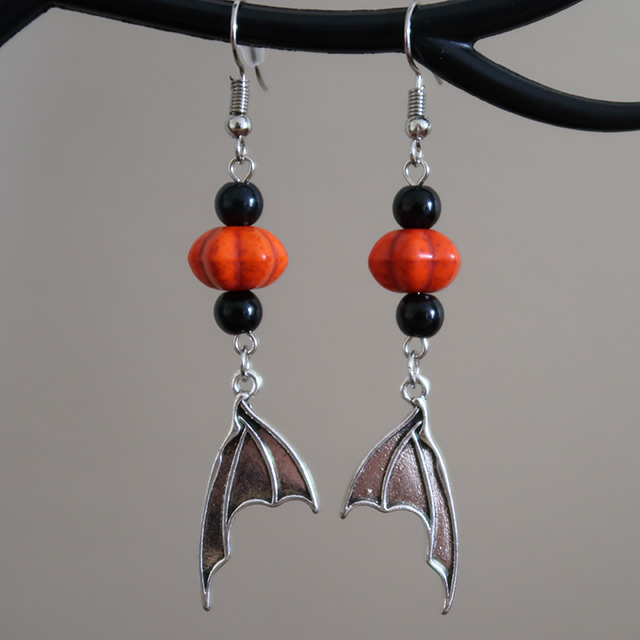 Bat Wing Earrings (Pumpkin)