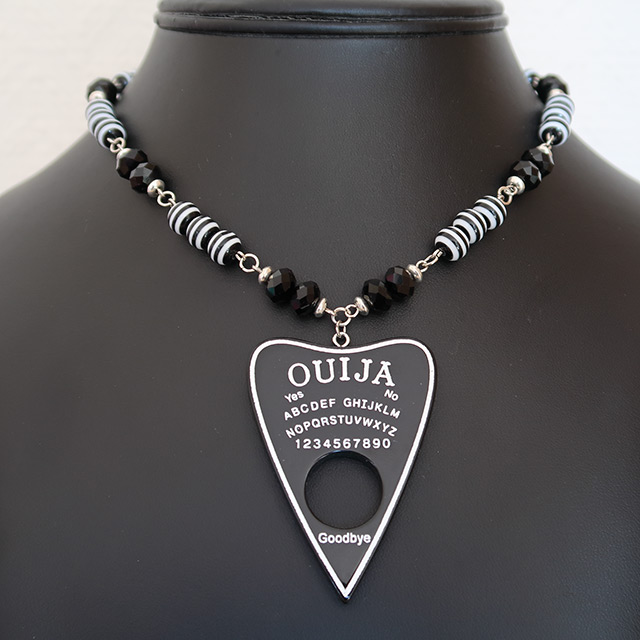 Ouija Necklace & Earrings Set (Black)